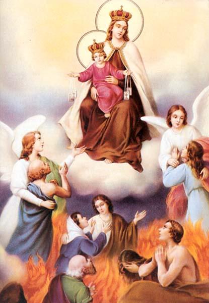Risultati immagini per immagini della Madonna in Purgatorio