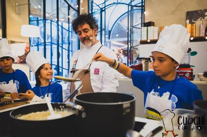 """Da Gino Fabbri a Marta Pulini, da Filippo Saporito a  Luca Marchini: chef stellati in cucina con i bambini al Festival nazionale """"Cuochi per un giorno"""". Appuntamento il 5 e 6 ottobre a Modena"""