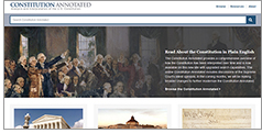 Constitution Annotated website