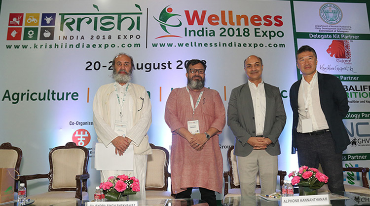 Krishi India 2018 expo/Wellness India 2018 expo began today, offering attendees everything healthy, enriching and empowering.