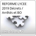 reforme lycee 2019...