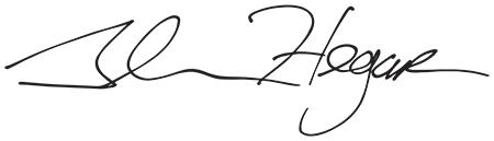 Image of Texas Comptroller Glenn Hegar's signature