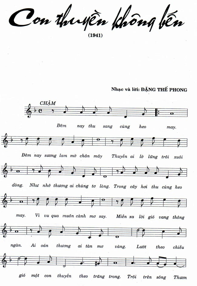 Image result for Con thuyền không bến music sheet