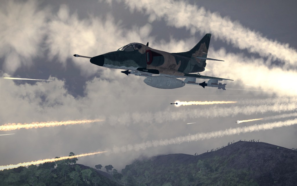 A-4 Skyhawk trên chiến trÆ°á»ng VViejt Nam. Nguá»n: http://www.trueachievements.com/