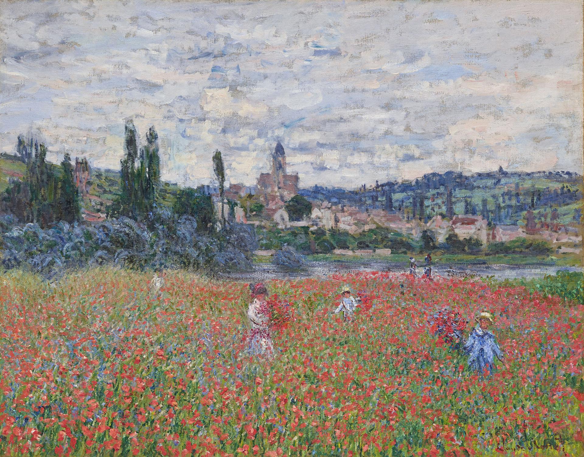 Claude Monet_Champ de coquelicots près de Vétheuil (Campo di papaveri a Vétheuil) 1879 ca.Olio su tela 73 x 92 cm Collezione Emil Bührle_Crediti fotografici: Schälchli/Schmidt, Zürich