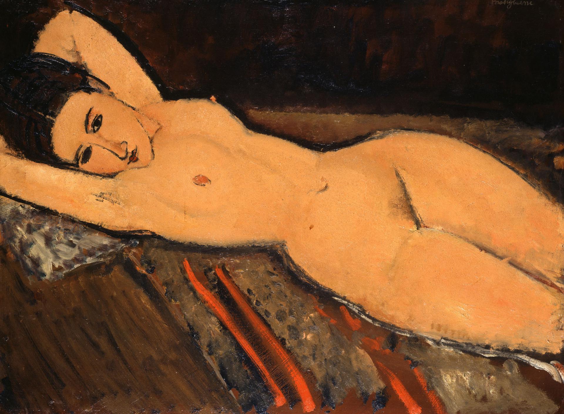 Amedeo Modigliani Nu couché (Nudo disteso) 1916 Olio su tela 65.5 x 87 cm Collezione Emil Bührle_Crediti fotografici: SIK-ISEA, Zürich (J.-P. Kuhn)