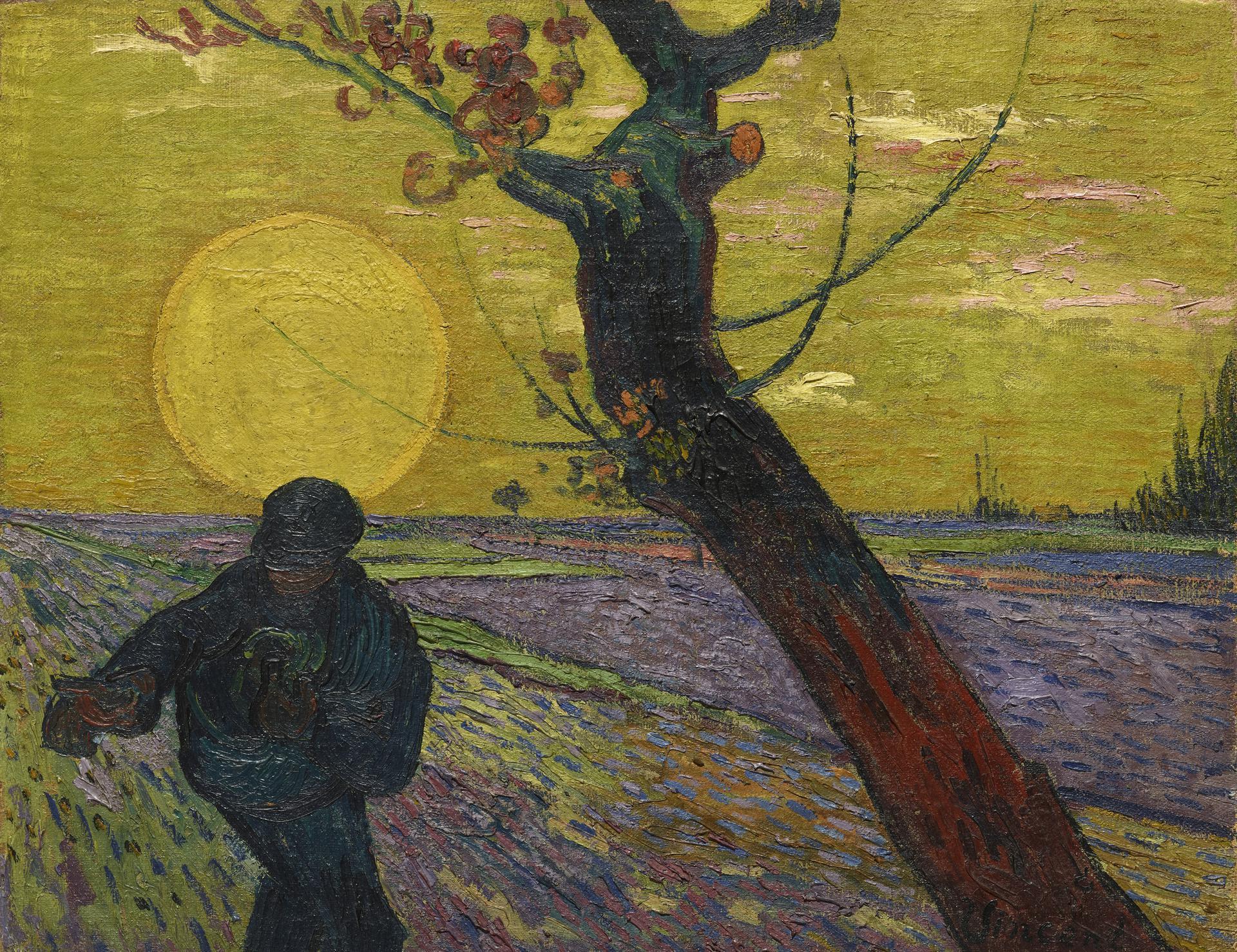 Vincent Van Gogh_ Le Semeur au soleil couchant 1888 Olio su tela 73 x 92 cm Collezione Emil Bührle_Foto: Schälchli/Schmidt, Zürich