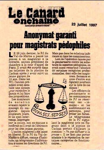 """➤ Archive Brûlot : """"Anonymat garanti pour magistrats pédophiles"""""""