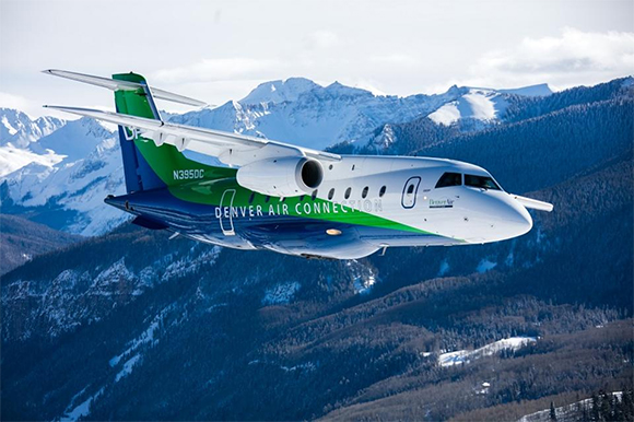Denver Air Connection jet in flight