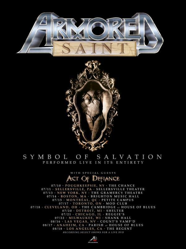 Armored Saint To Perform Symbol Of Salvation On Upcoming North