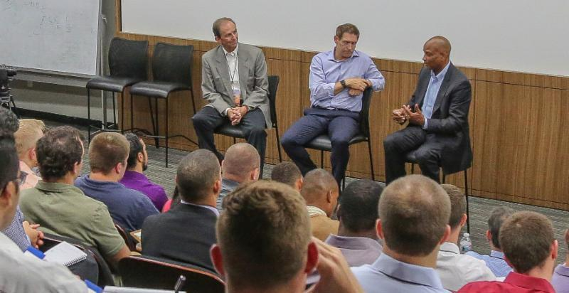 Steve Young Ronnie Lott Ted Robinson at 2017 Campbell Trophy Summit