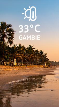 Gambie: 33°C