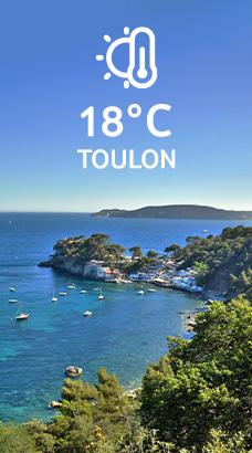 Toulon: 18°C