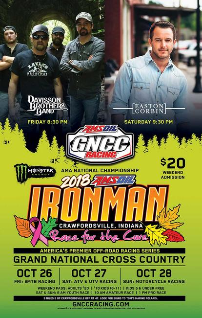 This weekend's AMSOIL Ironman GNCC has plenty of activities for the whole family to enjoy! Check out the schedule HERE.