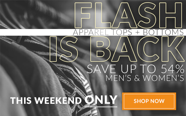 FLASH IS BACK | Save up to 54% on Apparel