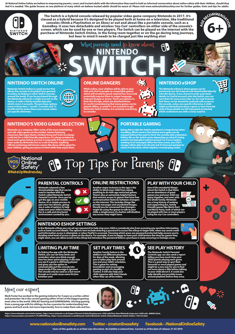 What parents & carers need to know about the 'Nintendo Switch'
