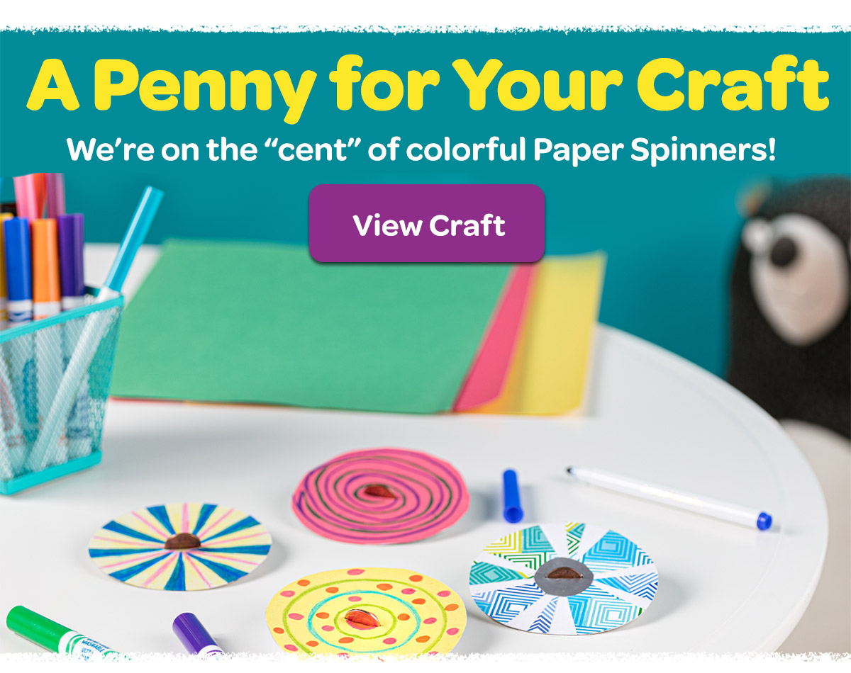 DIY Paper Penny Spinners Craft