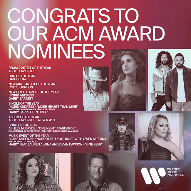 Nashville ACM Nominations