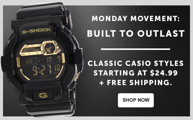 Casio free shipping starting at $24.99