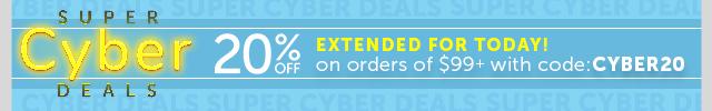 20% off orders $99+