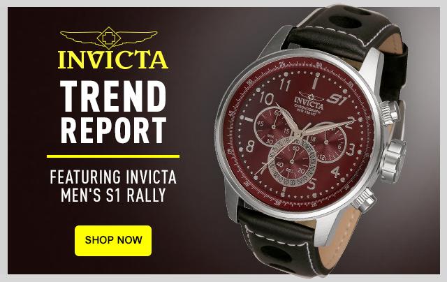 Invicta Trend Report Featuring Invicta Men's S1 Rally