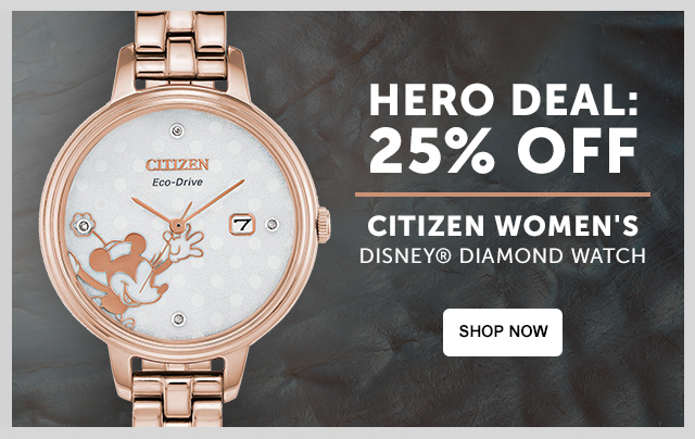 HERO DEAL Citizen Women's Disney® Diamond Watch - 25% off!