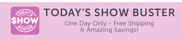 Today's Show Buster - One Day Only - Free Shipping & Amazing Savings!