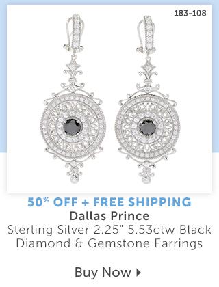 183-108  Description:  Dallas Prince Sterling Silver 2.25 5.53ctw Black Diamond & Gemstone Earrings Percentage off: 50% Off