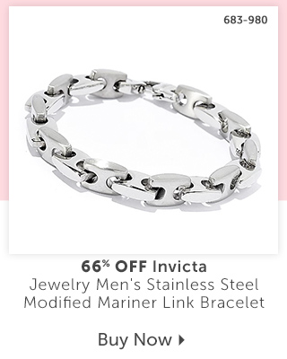 683-980 Description:  Invicta Jewelry Men's Stainless Steel Modified Mariner Link Bracelet Percentage off: 66% Off