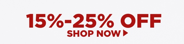 Shop items 15%-25% off.