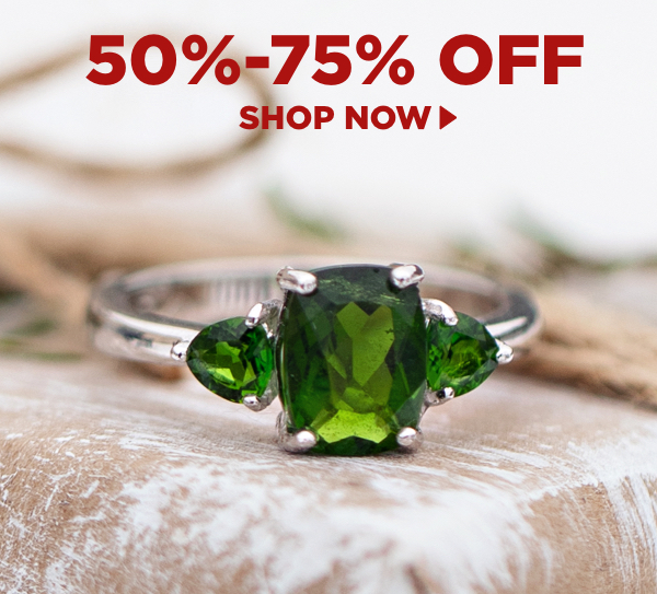 Shop items 50%-75% off.