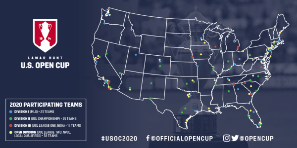 2020 U.S. Open Cup Map