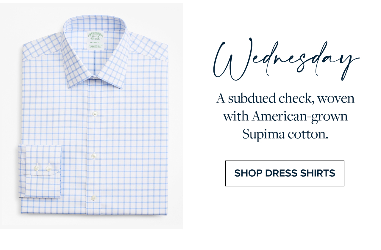 Tuesday A windowpane Oxford with our signature soft collar roll. Shop Sport Shirts