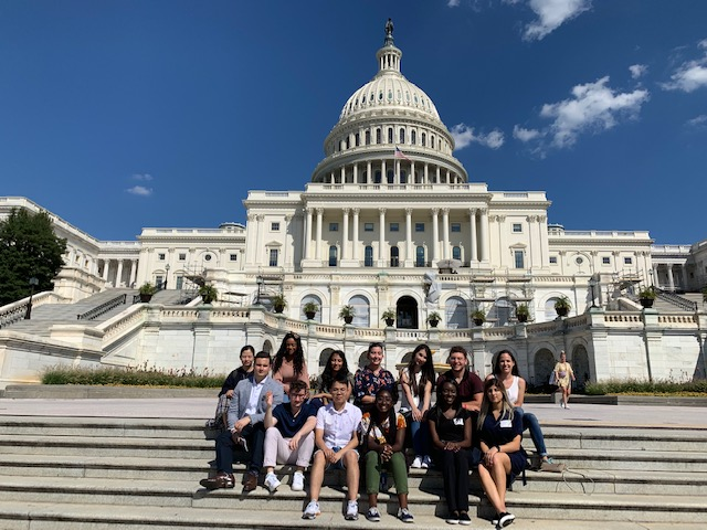 Image of students outside of the Reagan Library.