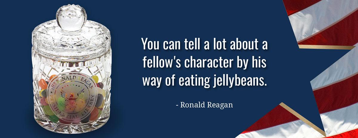 ACJ003 - Reagan Library Jelly Bean Jar