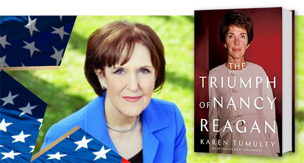 "Karen Tumulty with her book ""The Triumph of Nancy Reagan."