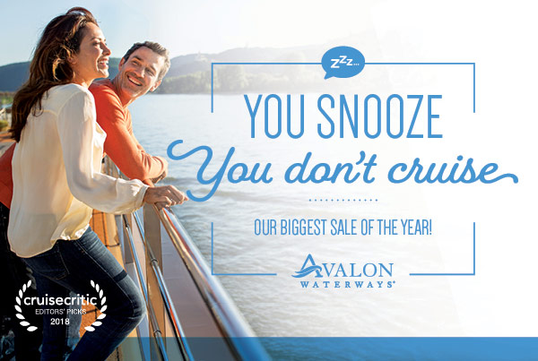 You Snooze, You don't cruise, Avalon Waterways
