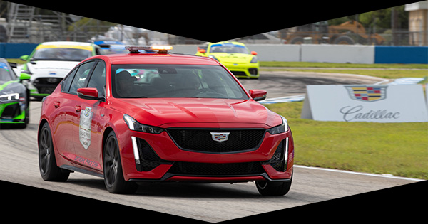 CT5-V Pace Car on the racetrack