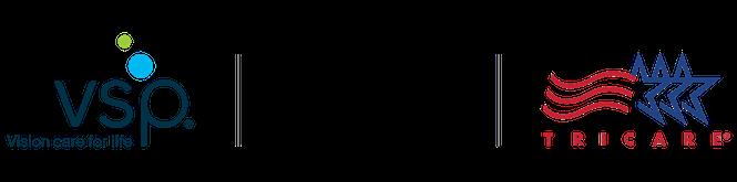 VSP , FEDVIP, TRICARE Logo Lockup