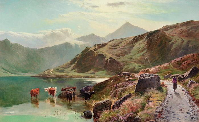 cattle-watering-near-snowdonia-sidney-richard-percy (700x431, 395Kb)
