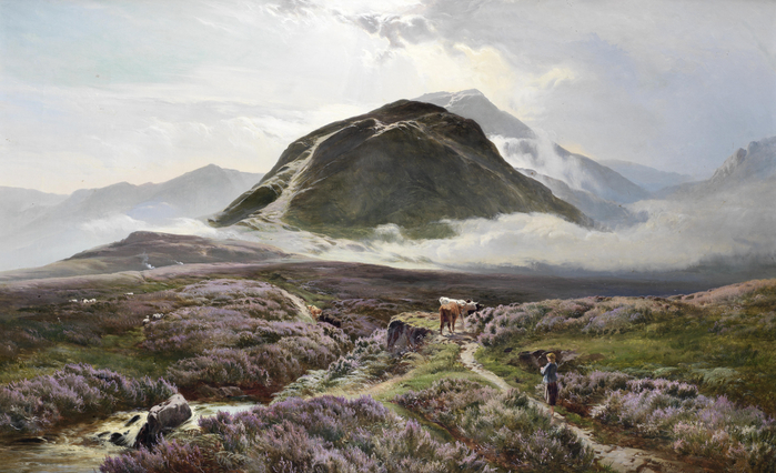 Sidney_Richard_Percy_Carn_Dearg_and_Ben_Nevis_from_Achintee (700x426, 360Kb)