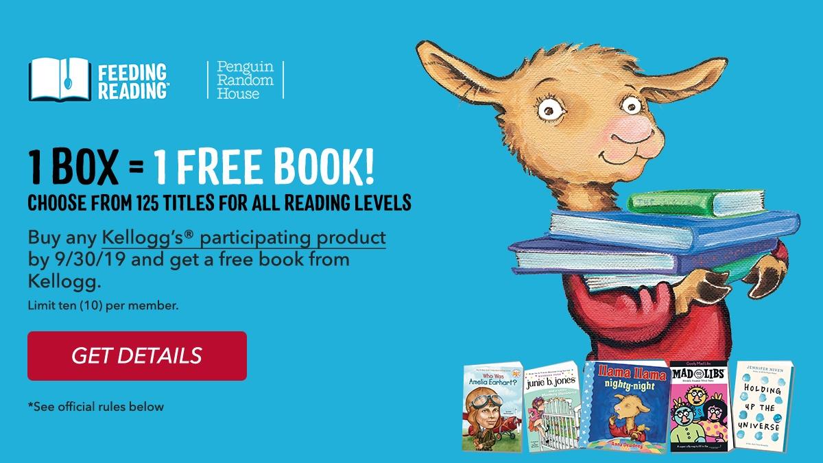 Freebie Alert: 10 kid's books from Kellogg's Family Rewards