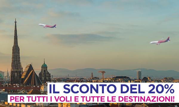Ciao Austria! 20% di sconto su tutti i voli da e per Vienna!