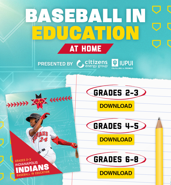 Baseball in Education, at home!