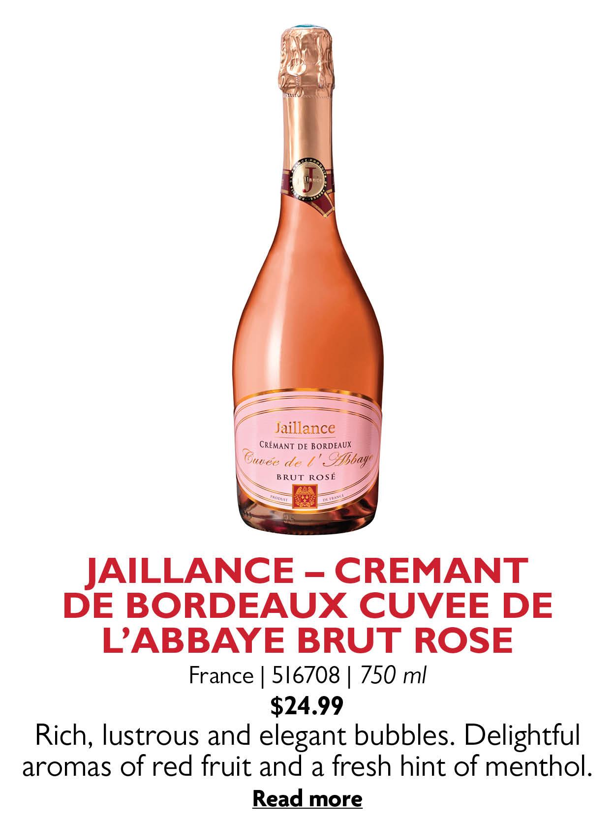 JAILLANCE - CREMANT DE BORDEAUX CUVEE DE L'ABBAYE BRUT ROSE