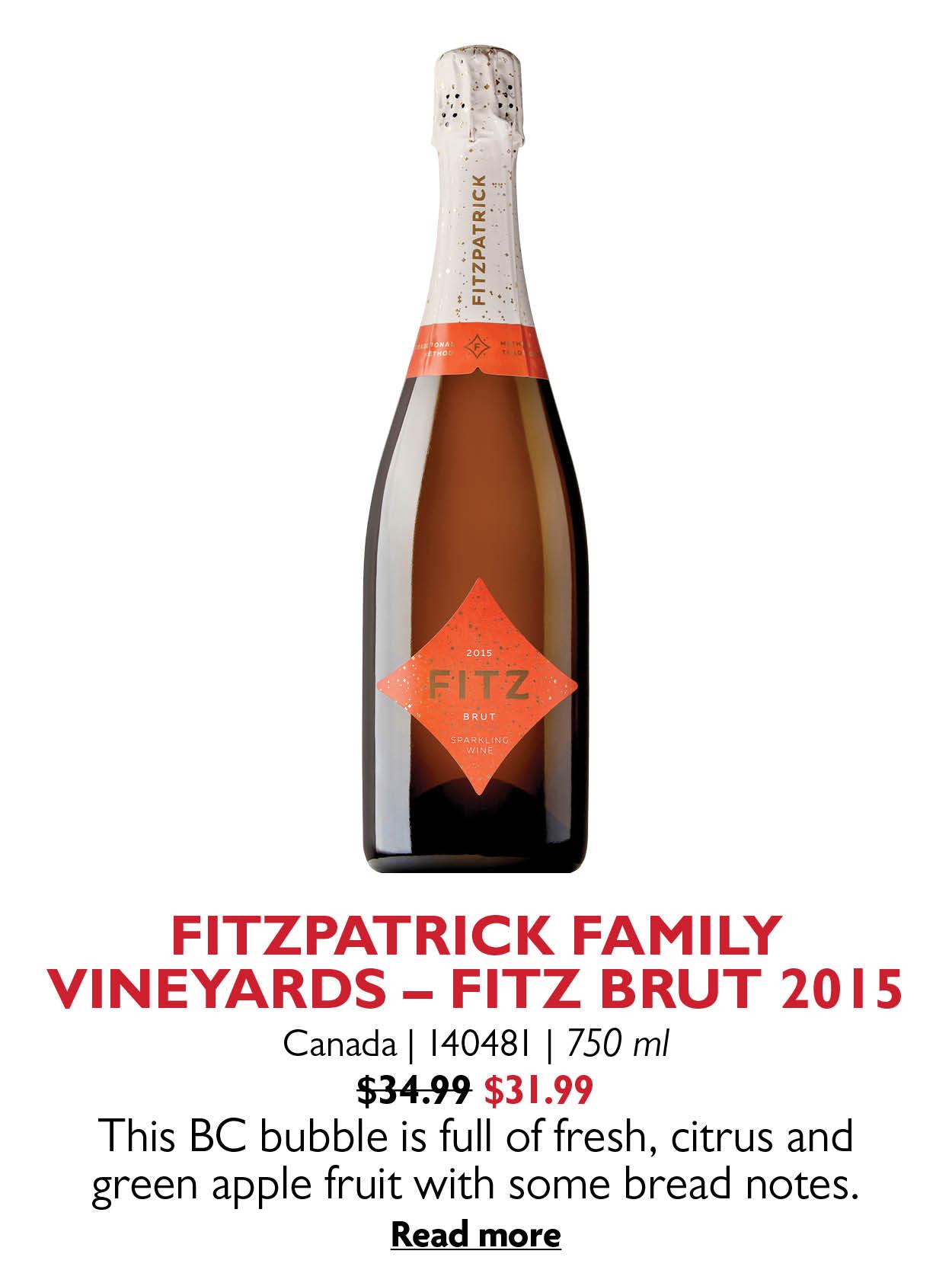 FITZPATRICK FAMILY VINEYARDS - FITZ BRUT 2015
