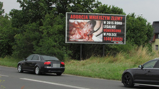 Billboard antyaborcyjny