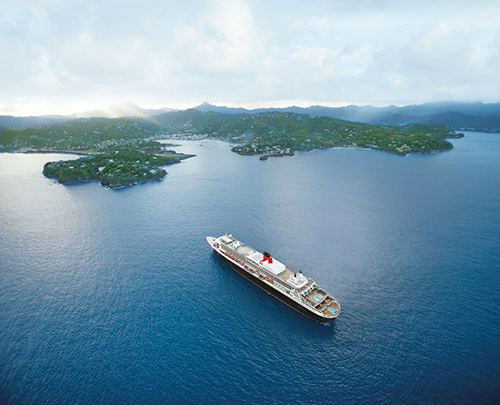 Queen Mary 2, St Lucia