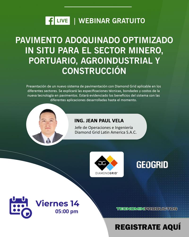 Pavimento adoquinado optimizado in situ para el sector minero, portuario, agroindustrial y construcción