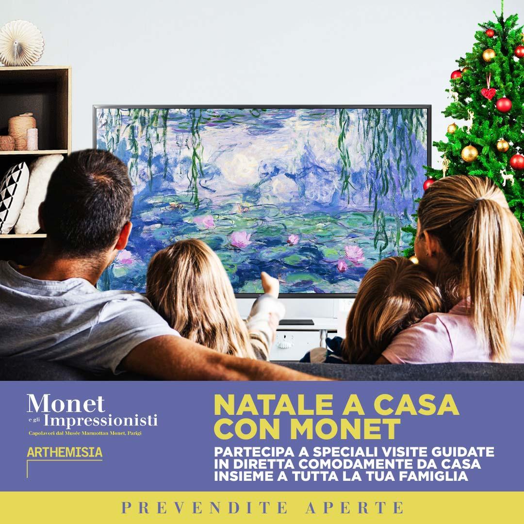 Natale a casa con Monet - visite                               guidate online